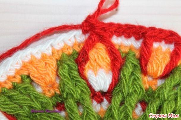 alfombra de flores de ganchillo conjunta