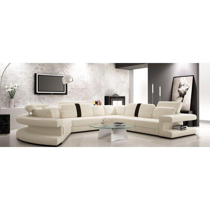 Divani Casa Leven Modern Yellow Leather Sectional Sofa: 1000+ Ideas About Leather Sectional Sofas On Pinterest