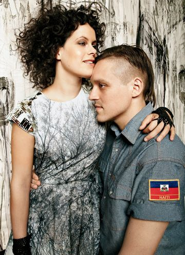 Régine Chassagne and Win Butler of Arcade Fire. I love him and his voice! I think he's meant to be with me and just sing to me all day. :)