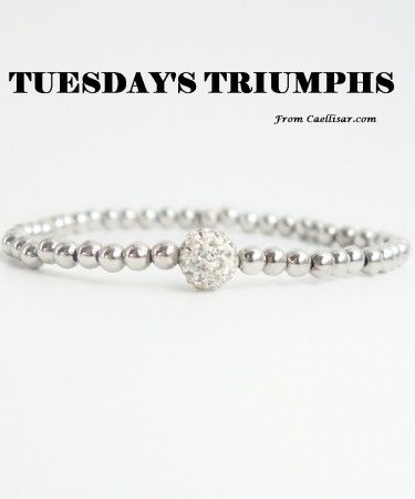 * Our best seller this week is this  Sterling Silver Beaded Bracelet With White Stones.