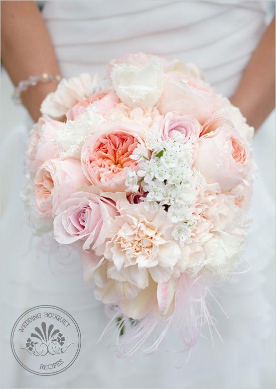 soft peach wedding bouquet #bouquet