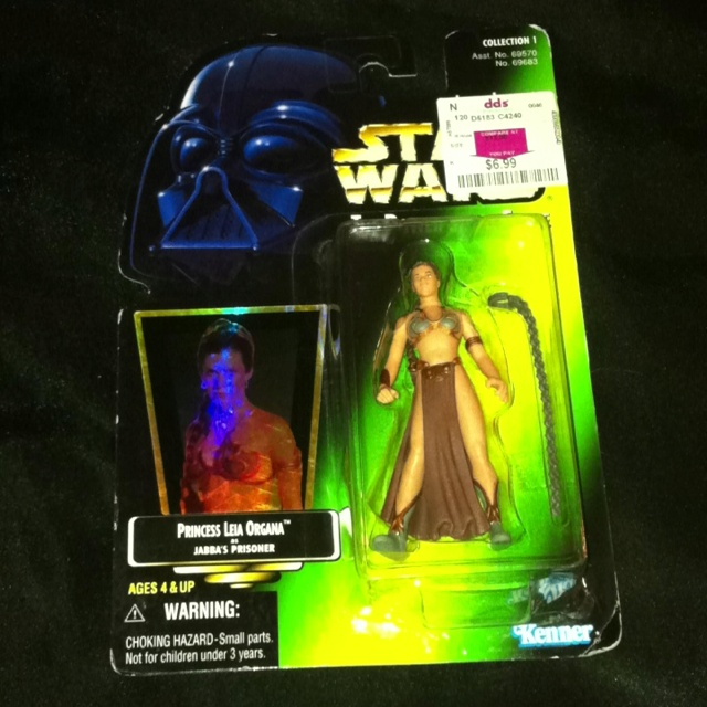 Star Wars : The power of the Force  Princess Leia as Jabba's prisoner