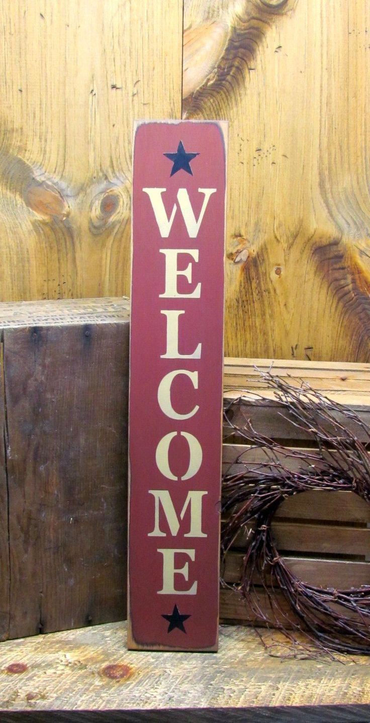 Best 25 Wooden Welcome Signs Ideas On Pinterest Welcome
