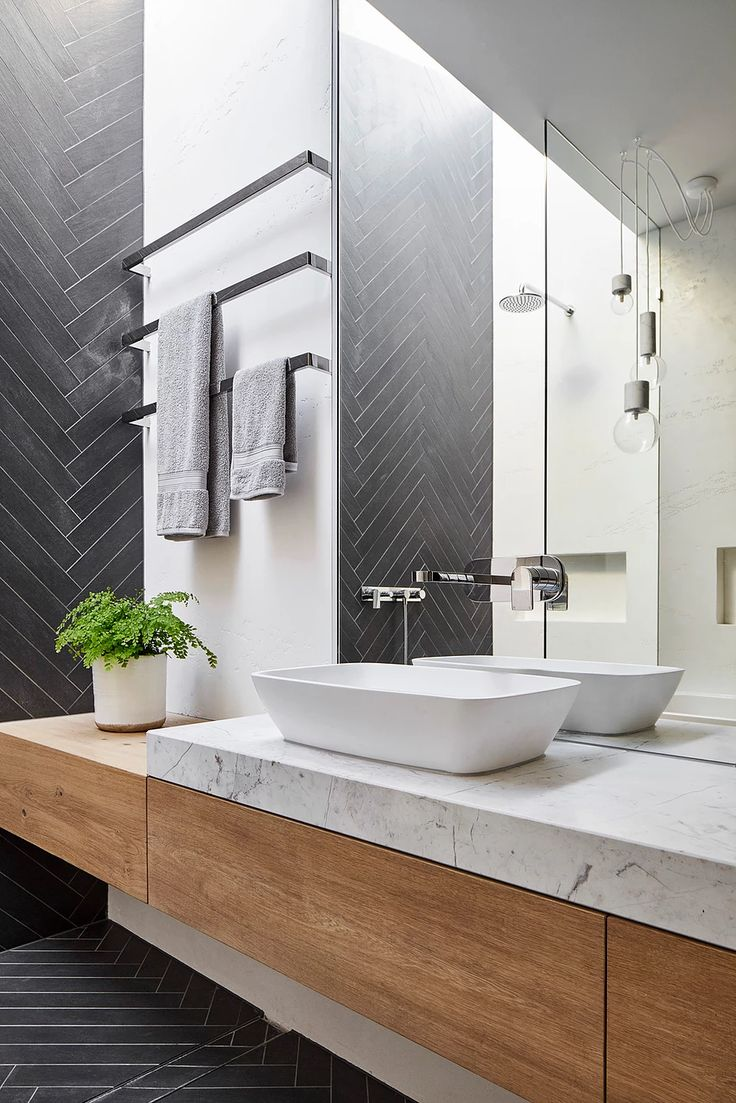 Mark St Fitzroy North Ensuite Bathroom Chevron Tile