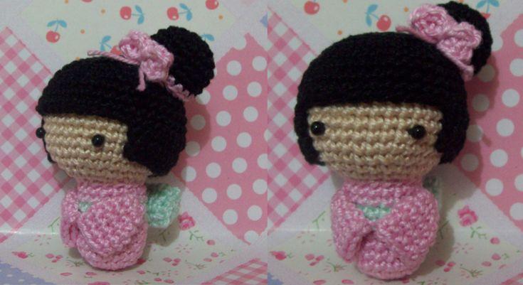 Pink Amigurumi Kokeshi Doll by oddSpaceball.deviantart.com on @deviantART