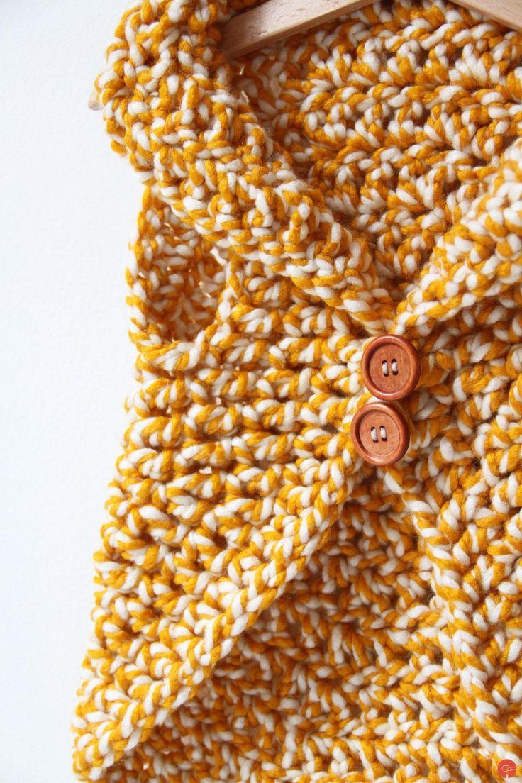 Kids crochet vest pattern
