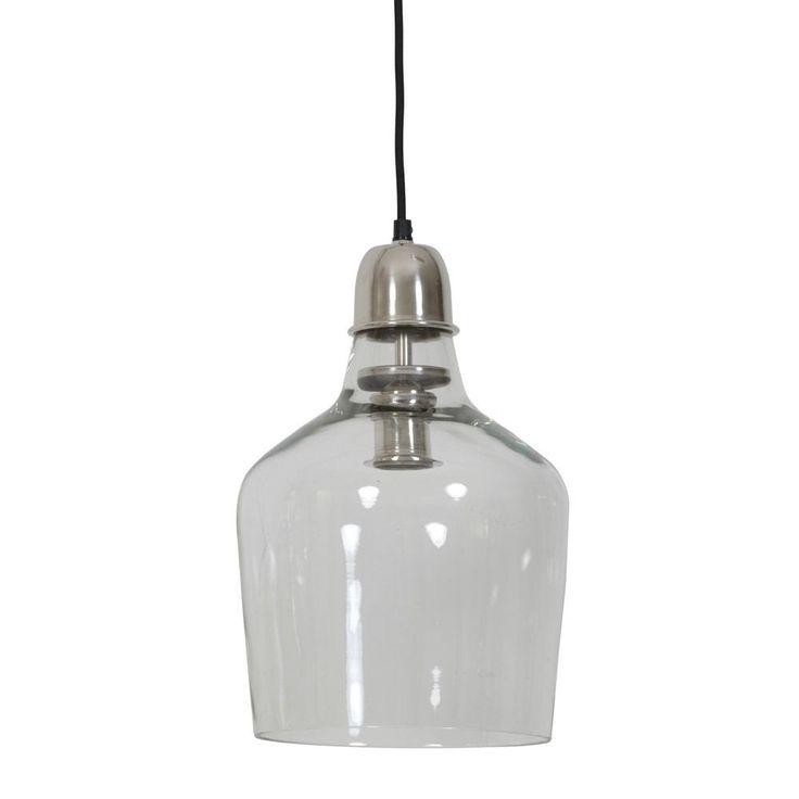 Light U0026 Living Yole Pendant Light Glass Nickel