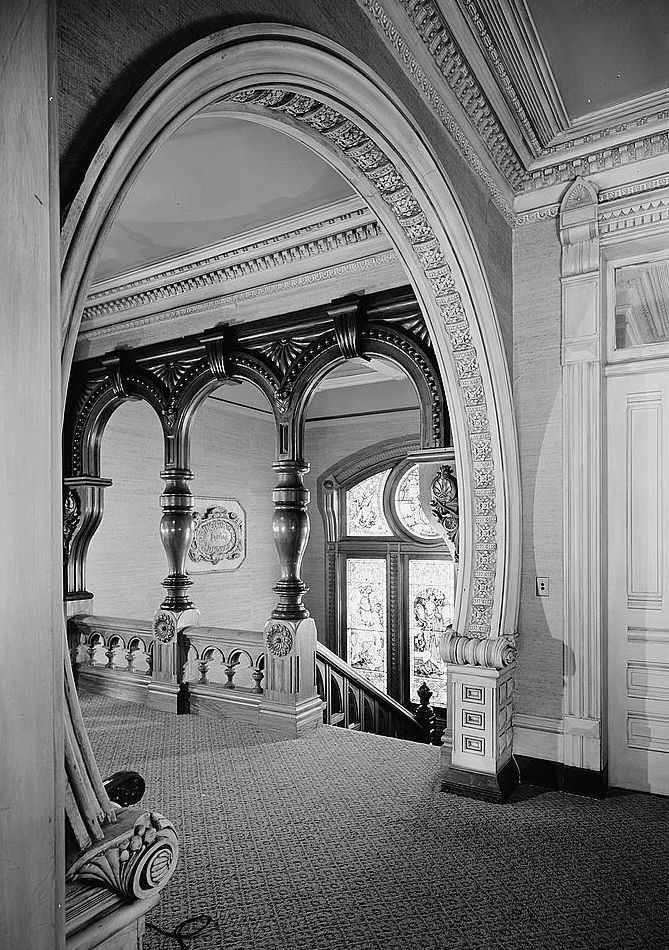 Historic Houses of California - Humboldt County - Eureka - Carson Mansion - Staircase - 1886