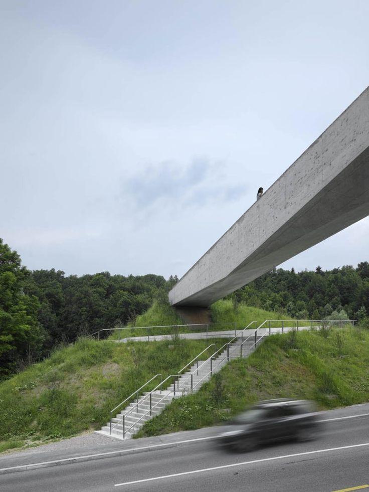 2b architectes, Roger Frei · La Sallaz Footbridge