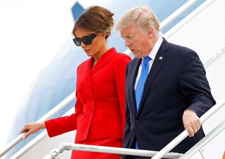 Invité d'honneur du défilé du 14 Juillet, Donald Trump est arrivé à Paris jeudi matin avec son épouse Melania.