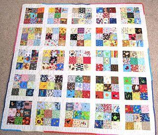 'I Sp'y Nine patch quilt