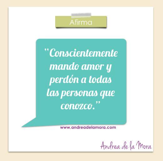 Afirmación amor | Andrea de la Mora