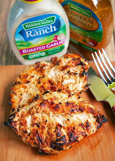 Roasted Garlic Italian Grilled Chicken - only 3 ingredients (including the…