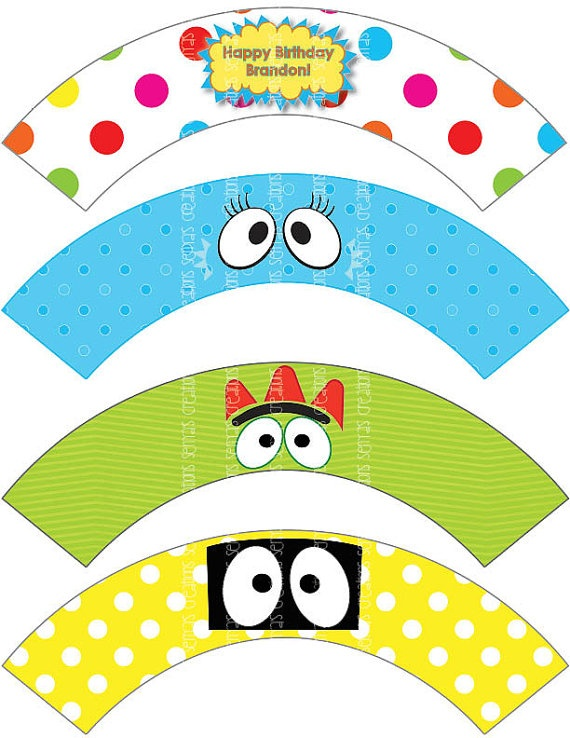 YGG  Printable Cupcake Wrappers by DigiCreations on Etsy, $10.00