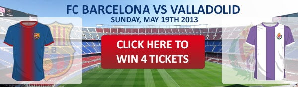 Win 4 tickets for FC Barcelona – Valladolid (19th of May) #fcbarcelona #ticketsgiveaway #valladolid
