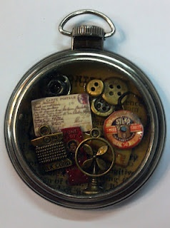 Do you have the time?... Awesome craft made with Tim Holtz products...