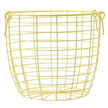 Pastel Pop Wire Basket Yellow - Caneware Baskets - Laundry & Bathroom - Homewares - The Warehouse