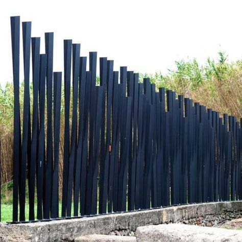 contemporary stell fence
