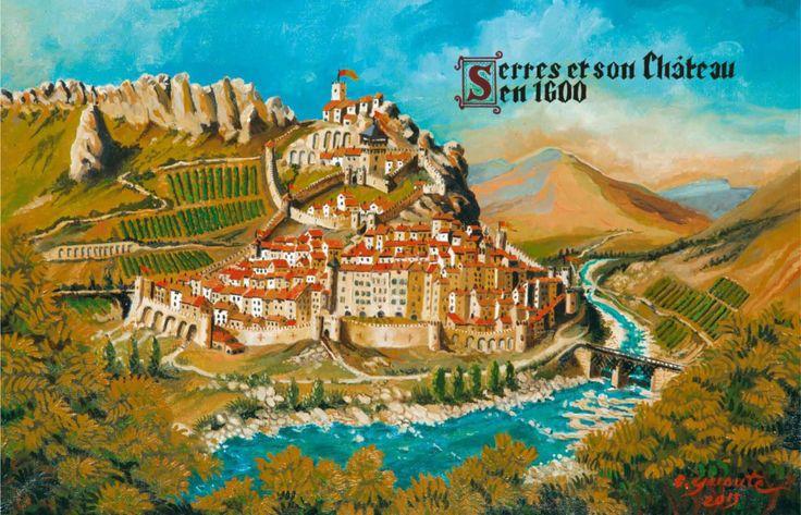 Le village médiéval de SERRES en 1600. #paysdubuech #parcdesbaronniesprovencales