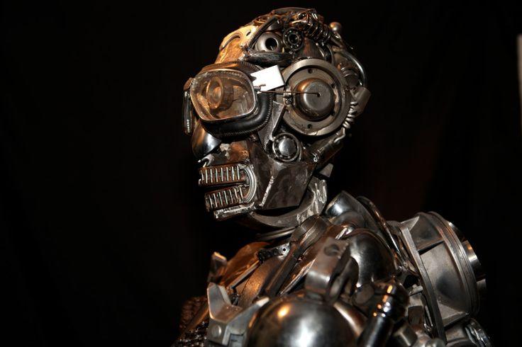 pewter robot sculpture - Google zoeken