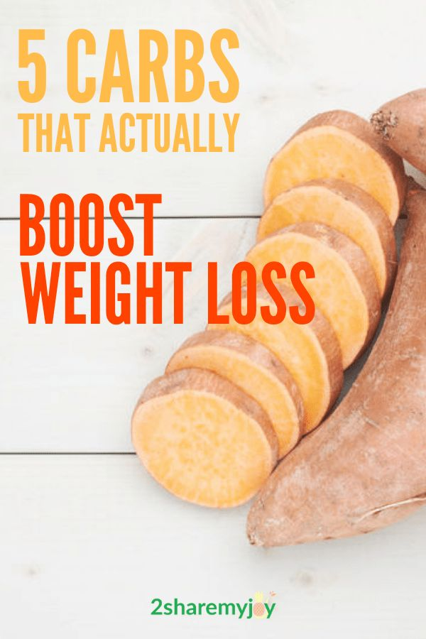 Healthy complex carbs that actually boost weight loss and fuel your body with important energy, minerals, and vitamins. #weightloss #carbs #metabolism #weightlosstip