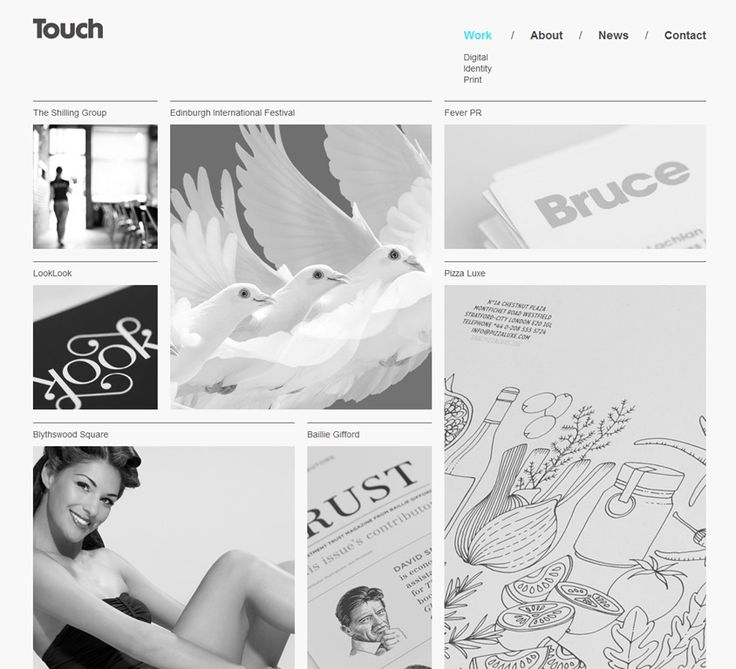 website design inspiration {thetouchagency}