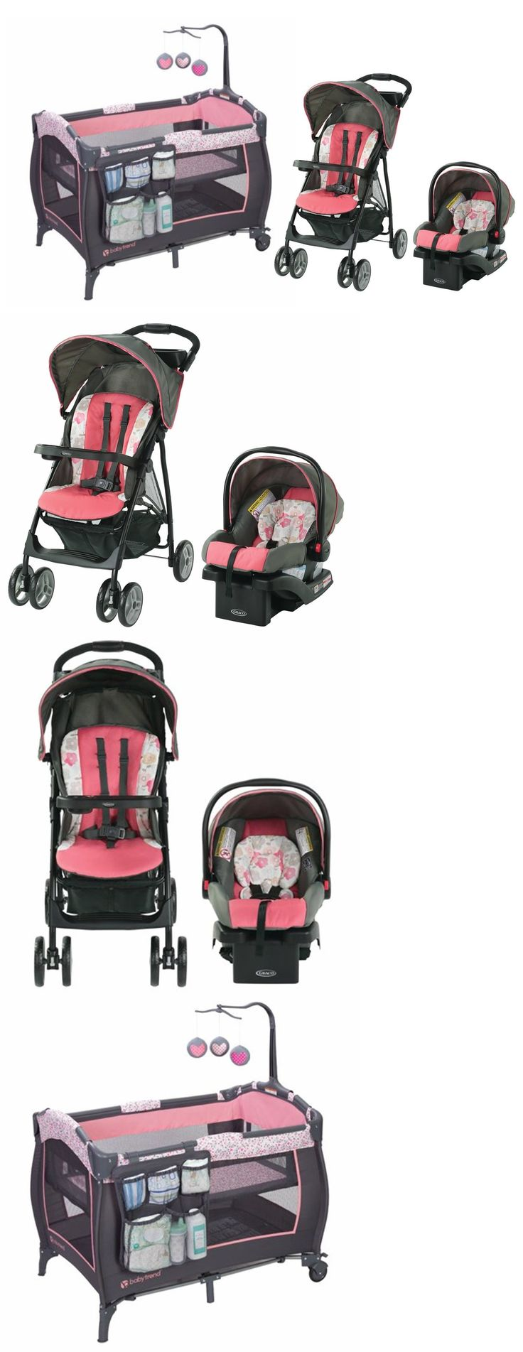 Details about Graco Baby Stroller with Car Seat Baby Trend