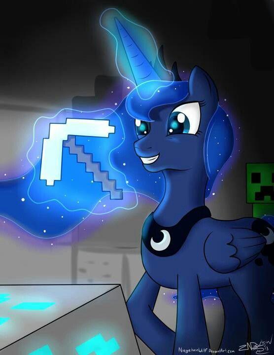 Let S Play Some Minecraft Princess Luna My Little Pony