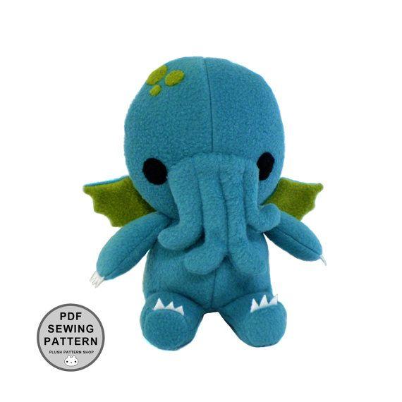 PDF Pattern - Cthulhu Plush Toy Sewing Pattern Stuffed Monster