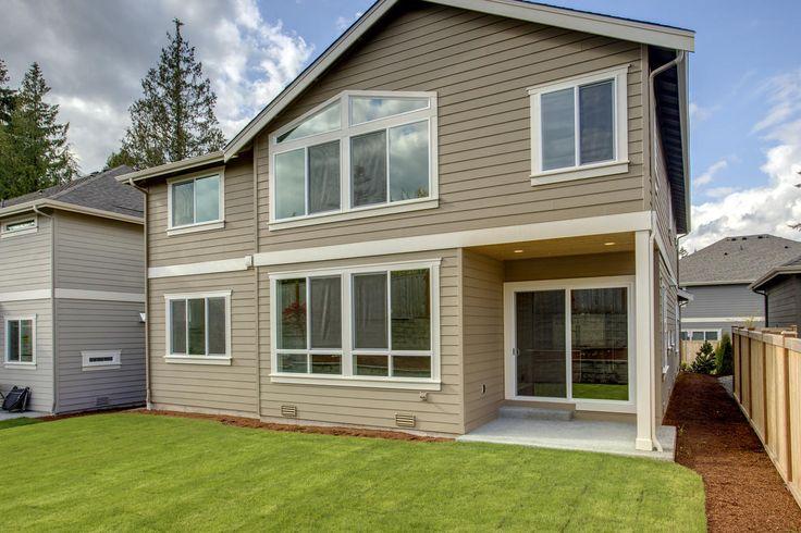Backyard of the beautiful Astoria home in Sammamish, Washington