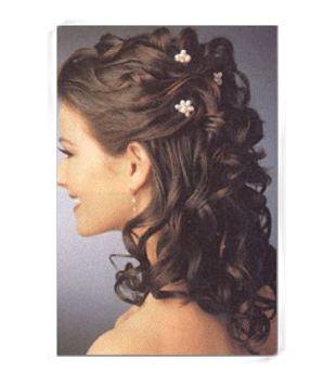 Wedding hair half-up half-down