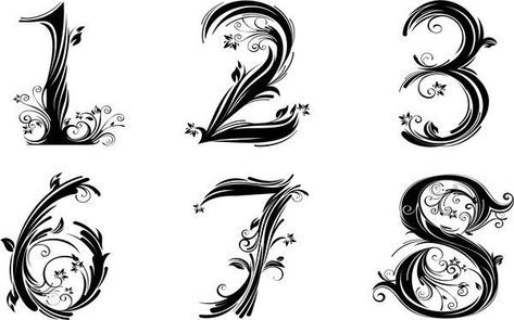 32 Ideas For Tattoo Fonts Numbers Tatoo Number Tattoo Fonts Number Tattoos Tattoo Fonts