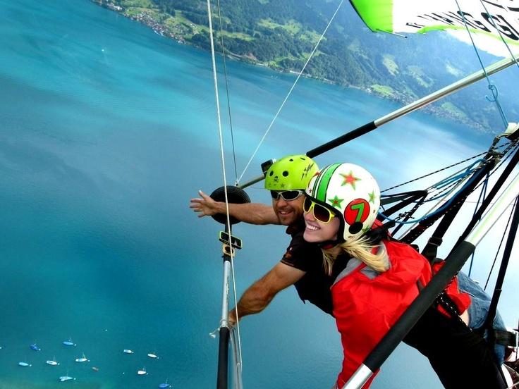 hang gliding in interlaken, switzerland.