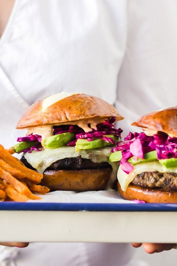 The 50 Greatest Burger Recipes In The Universe Purewow Food Vegetarian Grilling Meat Great Burger Recipes Turkey Burgers Burger Recipes