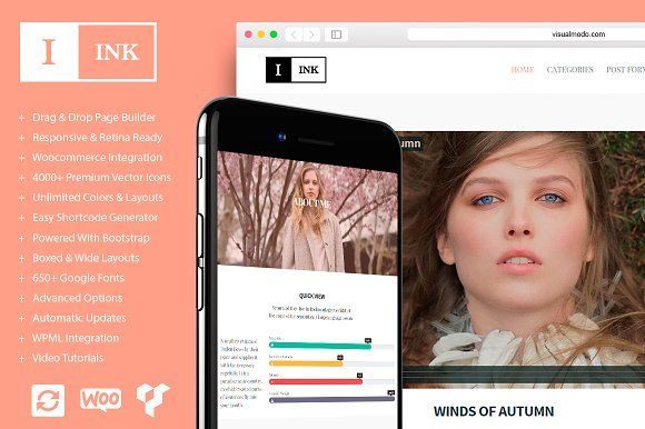 Ink Personal WordPress Blog Theme  Standard Image Gallery Audio Video Quote Link
