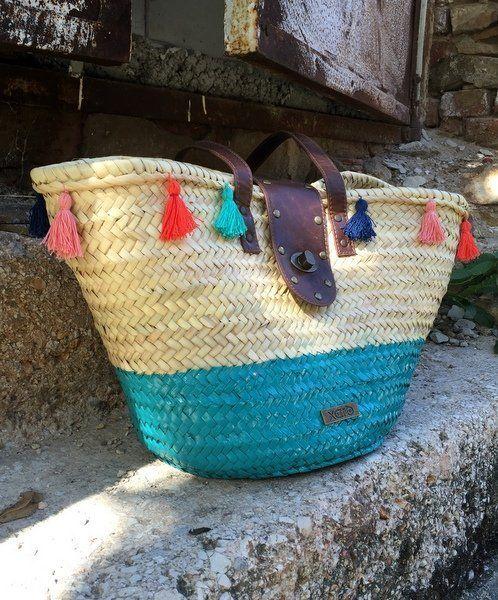 Fess, majd bojtozz nyári kosarat - Masni Dekoráció, Spraypaint and tassel - pimp your summer basket, DIY.