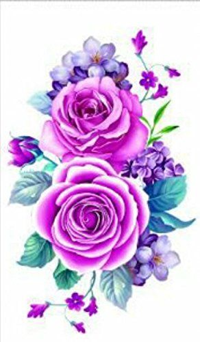 New design and hot selling Purple roses realistic and fake temp tattoo stickers for women. Tattoo size : 21*10.5cm (8.27 X 4.13 inches). High quality Temporary Tattoos are very realistic & look exactly like real tattoos on the skin. Certification:F.D.A, EM/N71, ASTM. Quick and easy to apply,safe and Non-Tox. Not for children under 3years.Temporary Tattoos are not recommended for use on sensitive skin and are not returnable. Will apply to almost any surface: clothing, mirrors, cups…
