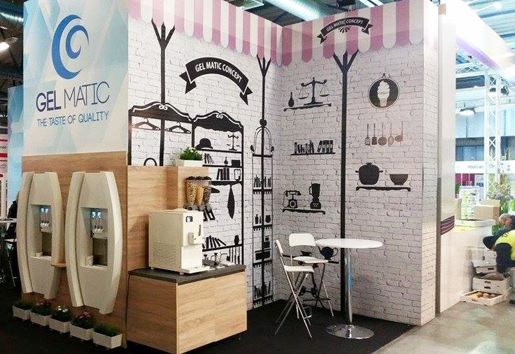 Gelato store concept with Gel Matic machines at Sweet Targi 2015 (Katowice, Poland).