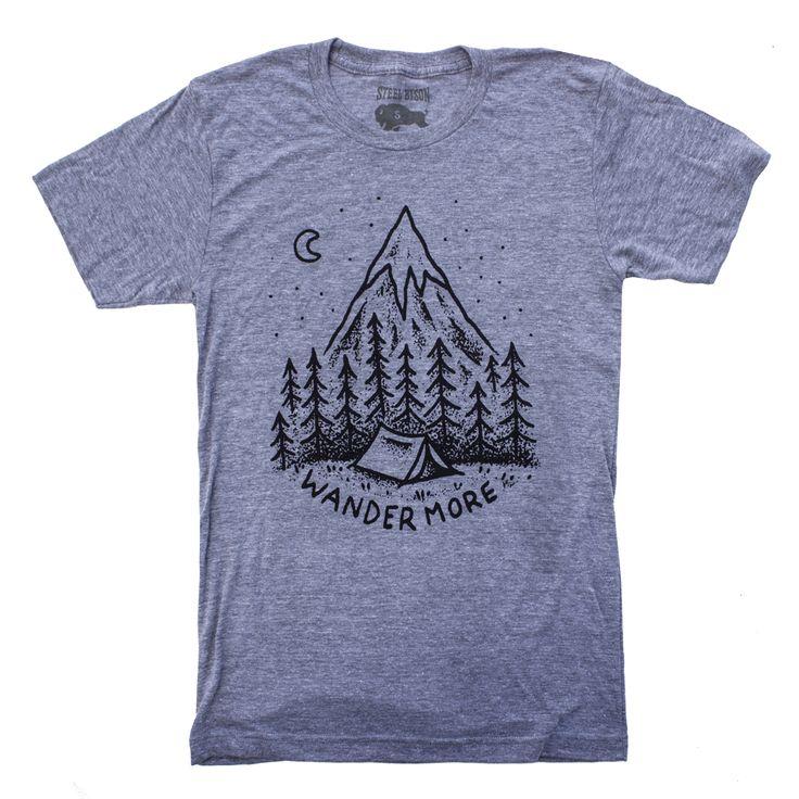 T-Shirt - Wander (Heather Grey) / Steel Bison