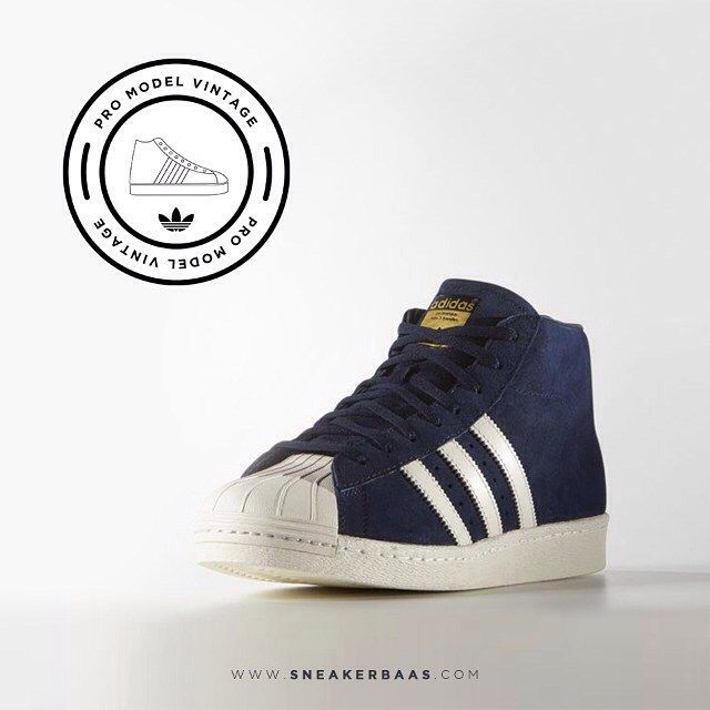 Adidas Pro Model Vintage - A slick design in combination with the signature  shell-toe makes this sneaker a must have.