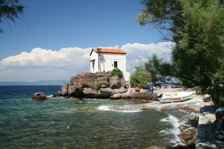 Lesbos, Greece Skala sikamnias