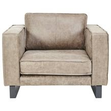 Loveseat Fauteuil Long Island Leder Taupe