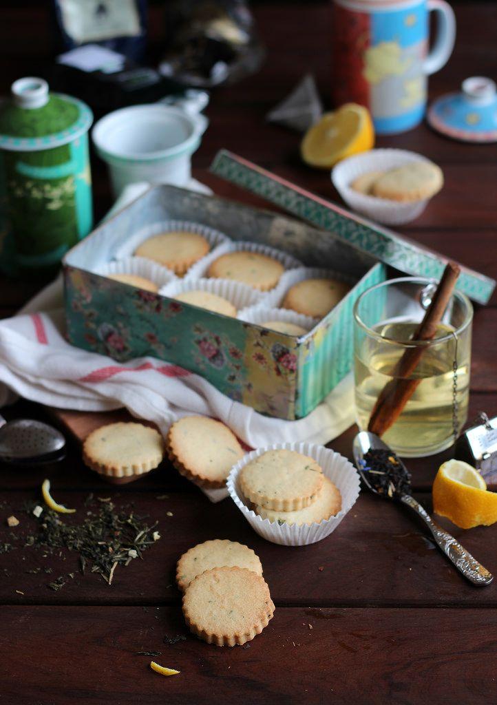 Galletas con té verde al aroma de limón