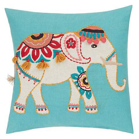 Buy John Lewis Marigold Elephant Cushion Online at johnlewis.com