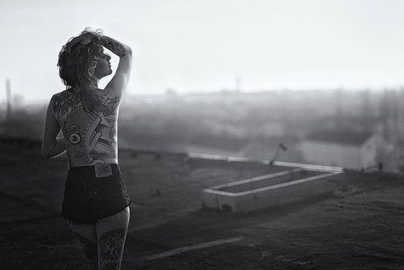 Black and White Tattoogirls  #ink #Tattoo #nude #women