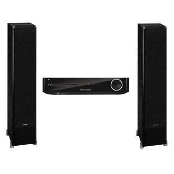 Harman Kardon® BDS 277 Receiver and Infinity P253BK Floor Speaker Bundle