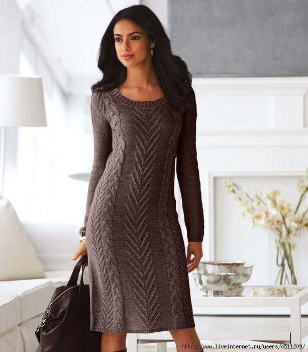Платье спицами,идея