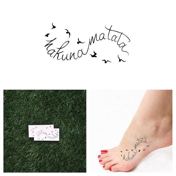 Infini - Hakuna Matata - tatouage temporaire (ensemble de 2)