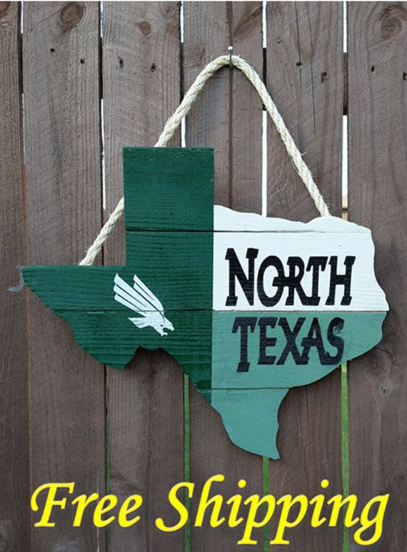 Rustic Wooden University of North Texas  Texas by OldSchoolDesign