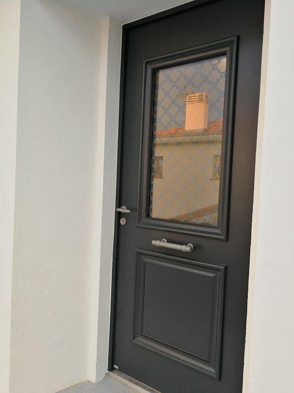 Porte Bel\u0027m en alu Ral 7016 Réalisations Portes D\u0027entrée - pose d une porte d entree